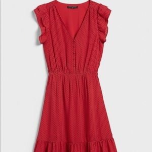 Banana Republic Flutter Sleeve Fit & Flare Dress